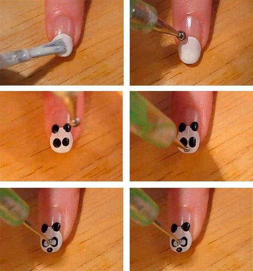 пошаговый дизайн ногтей 2012: