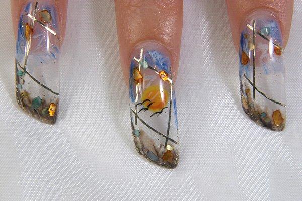 Дизайн ногтей аквариум — особенности