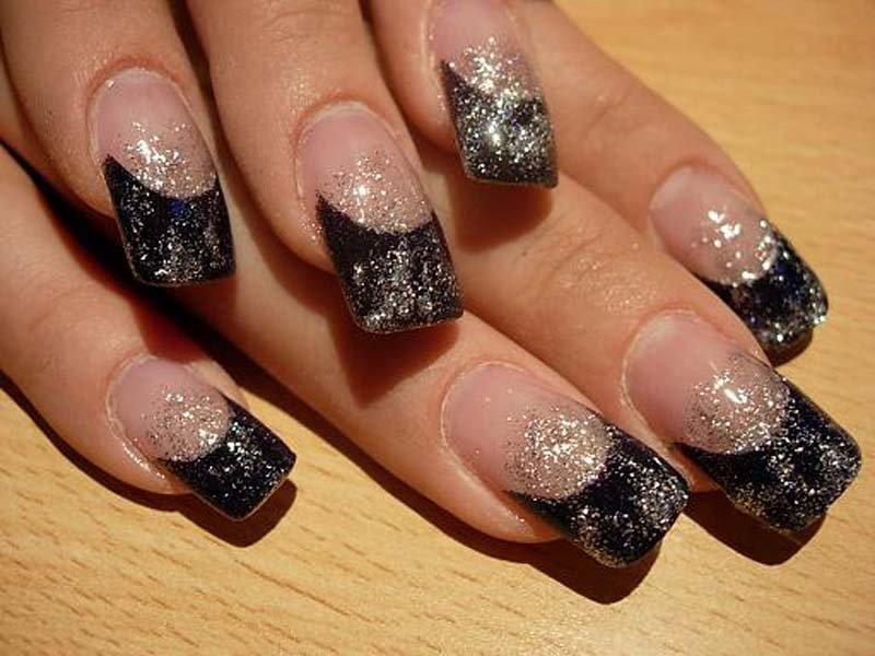 Как сделать блестки на ногти с гелем 193