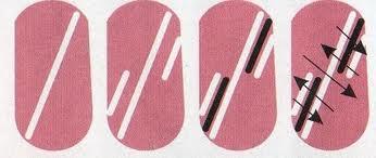 Рисунок на ногтях иголкой схемы