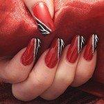 Создание красно-черного дизайна ногтей