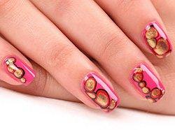 Дизайн «Шарики» для коротких ногтей