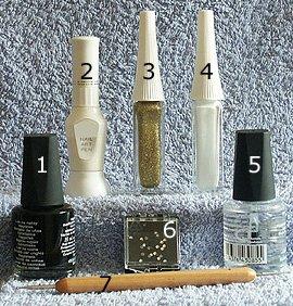 Черный дизайн ногтей с рисунком – пошаговые фото выполнения