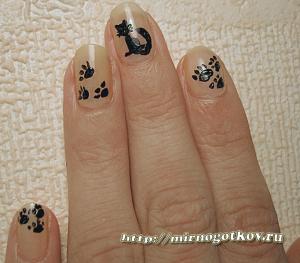 «Котики на ногтях» - Веселый дизайн ногтей
