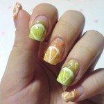 «Апельсинчики-лимончики» красивые рисунки фруктов на ногтях