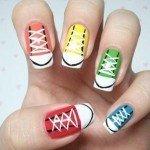 Спортивный дизайн ногтей
