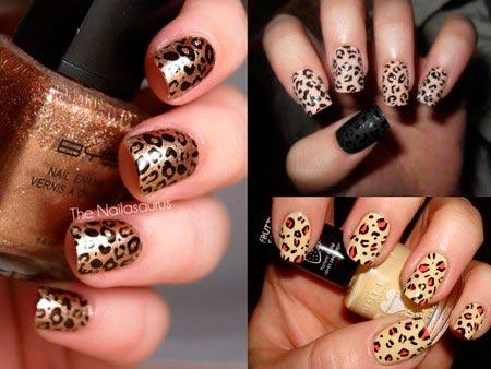 Дизайн ногтей по леопард