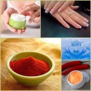 Простой рецепт маски для ногтей с перцем