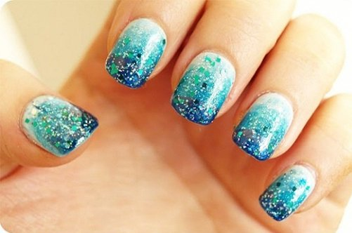 зимни дизайн ногти фото