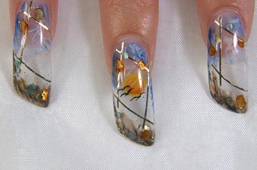 ногти дизайн аквариум фото