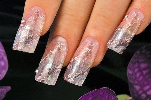 модный аквариумный дизайн ногтей фото