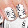 зимний дизайн на ногти фото
