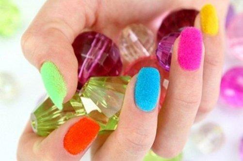 красивый бархатный дизайн ногтей фото