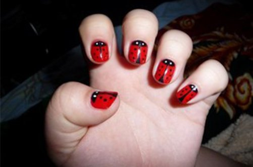 божьи коровки детский дизайн ногтей фото