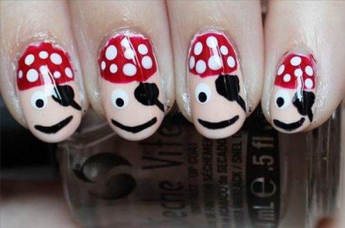детский дизайн ногтей пират фото