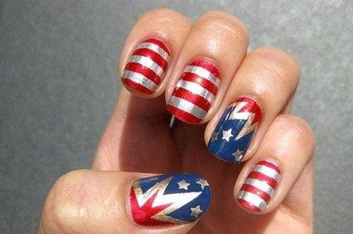 Дизайн ногтей Флаги