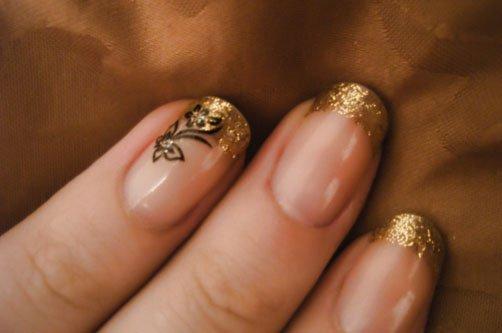 песок дизайн ногтей фото