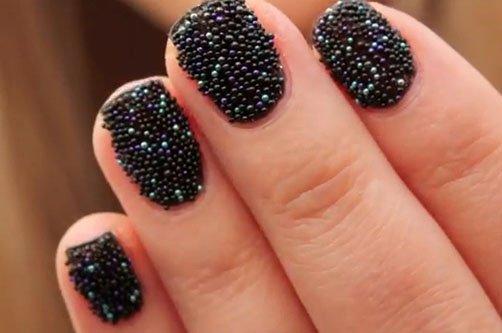 дизайн ногтей с песком фото