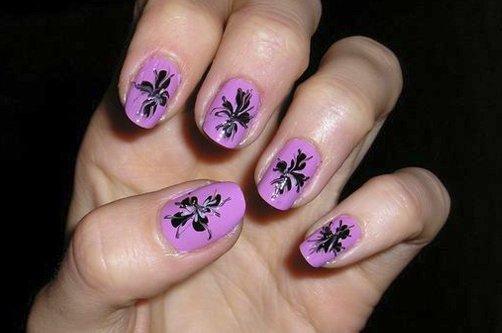 дизайн ногтей по мокрому лаку фото