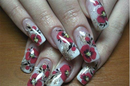 мокрый дизайн ногтей фото