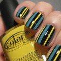 полосатый дизайн для ногтей фото