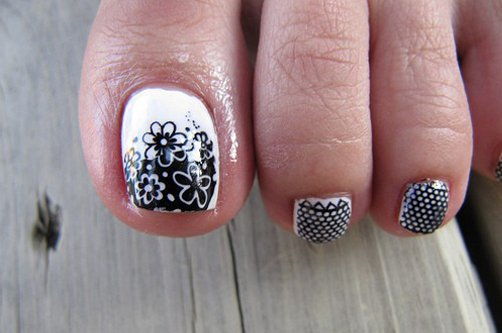дизайн ногтей с педикюром фото