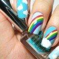 дизайн радуга ногти фото