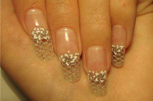 дизайн ногтей хрустальные ногти фото