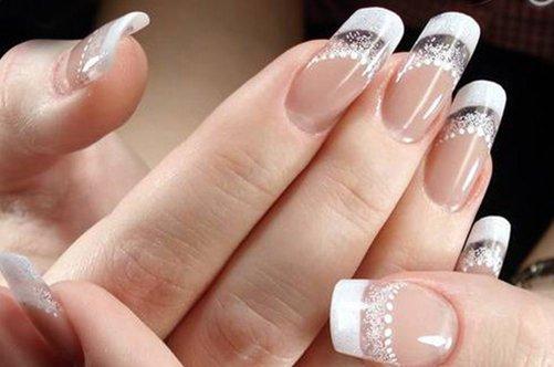 Ногти прозрачные дизайн фото