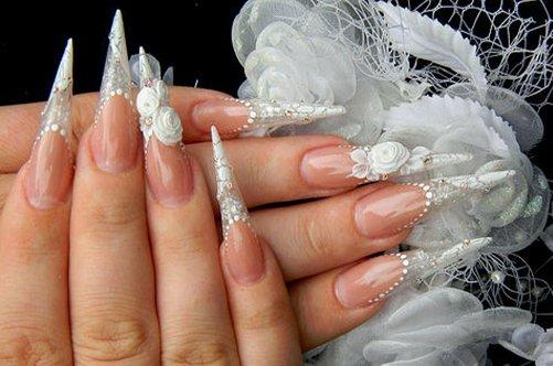 маникюр хрустальные ногти фото