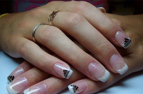 адидас френч дизайн ногтей фото