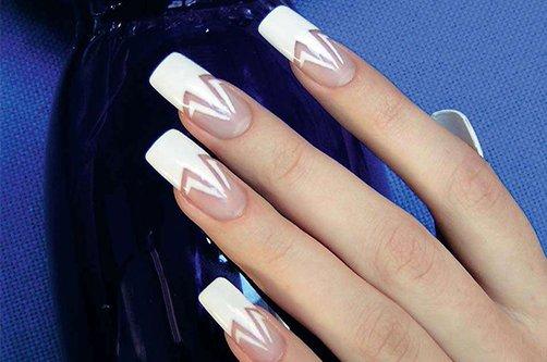 дизайн ногтей белый френч фото