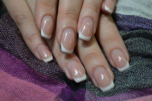 дизайн ногтей френч на коротких ногтях фото