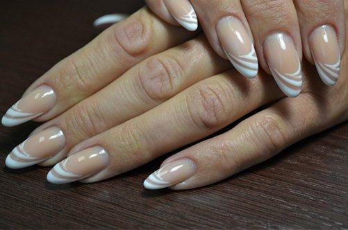 дизайн ногтей френч с декором фото