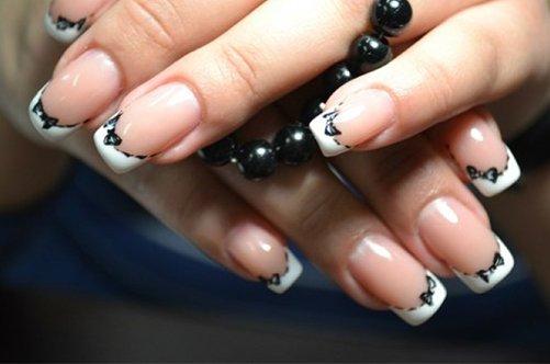 дизайн ногтей френч с бантиками фото