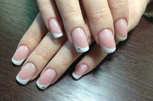 дизайн ногтей розовый френч фото