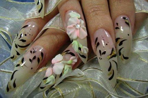 френч с цветами фото