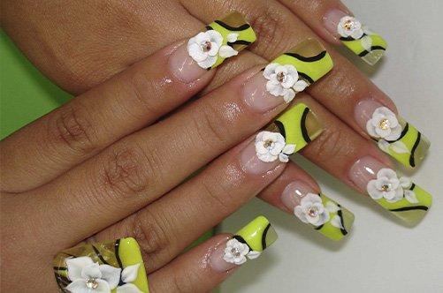 цветы френч дизайн фото