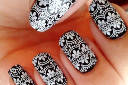 дизайн кружевной ногти фото