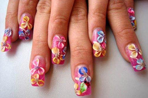 лето дизайн ногтей фото