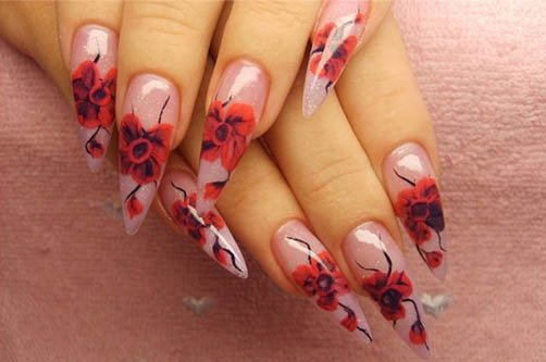 лето-осень дизайн ногтей фото