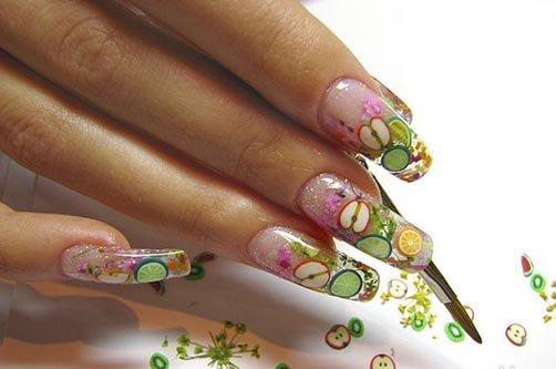 дизайн ногтей с фруктами фото