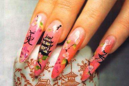 дизайн ногтей с сакурой фото