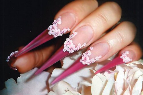 сакура дизайн ногтей фото