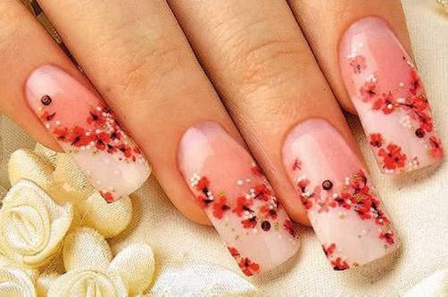 Дизайн ногтей Сакура