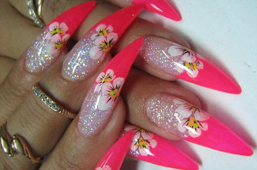 Дизайн острых ногтей: осень 2013