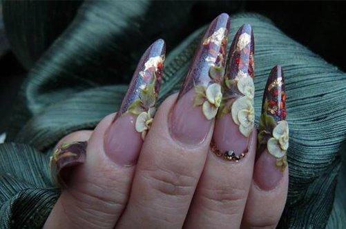 дизайн ногти острые осень 2013 фото