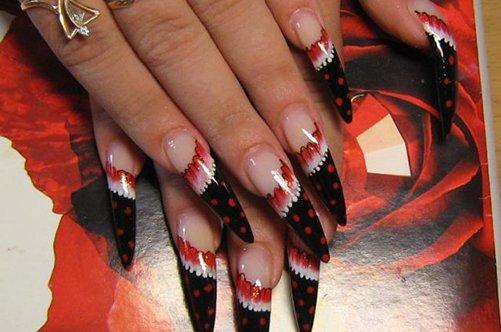 острые ногти дизайн фото