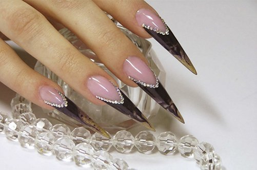 маникюр острые ногти осень 2013 фото