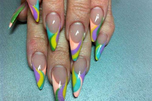 дизайн акриловые ногти фото